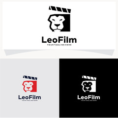 Lion Film Logo Design Template
