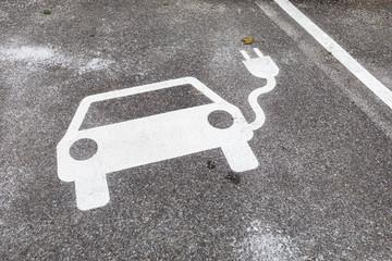 Zeichen E-Auto Ladestation