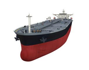 Oil Tanker Ship Isolated
