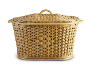 Rattan wicker laundry basket