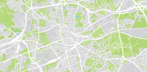 Urban vector city map of Bochum, Germany
