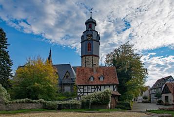 In der Altstadt von Butzbach, Wetterau, Hessen, Deutschland