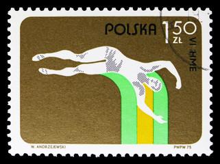 Pole vault, 6th European Indoor Athletic Championships, Katowice serie, circa 1975