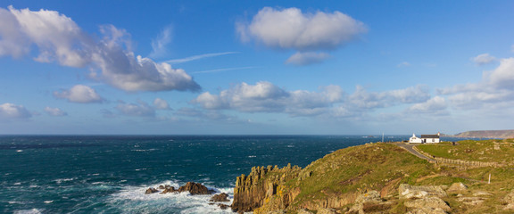 Cliffs at Lands End in Cornwall