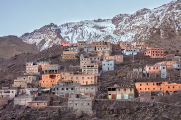 Imlil city in the Atlas Mountains