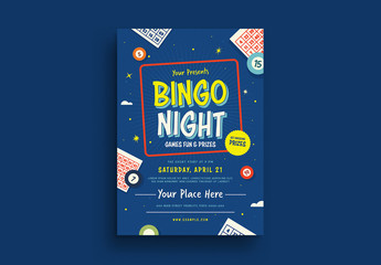 Bingo Night Flyer Layout