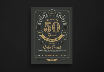 Anniversary Invitation Flyer Layout