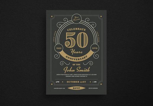 Anniversary Invitation Flyer Layout