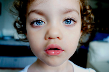 Portrait of blue eyed girl