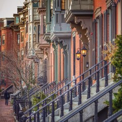 Exterior view of houses at Boston