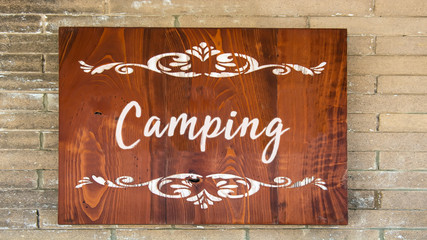 Schild 344 - Camping