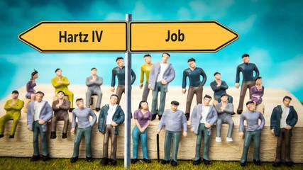 Schild 370 - Hartz IV