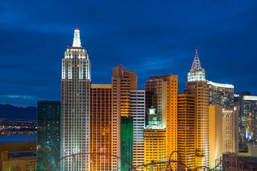 Poster Las Vegas New York Skyline replica in Las Vegas, Nevada, USA.