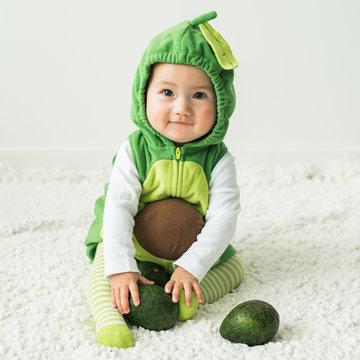 Baby Halloween Costume Avocado