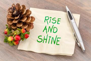 rise and shine - napkin note