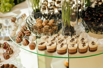 buffet at the wedding party