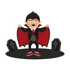 Kid and halloween cartoons