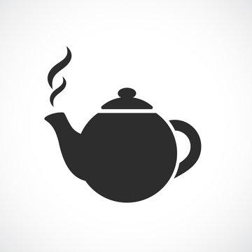 East round tea pot icon