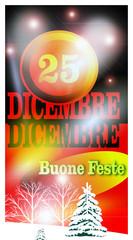 25 Dicembre, augurio Natalizio, progetto grafico.