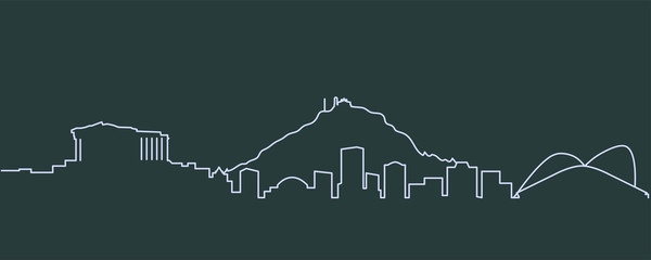 Athens Single Line Skyline