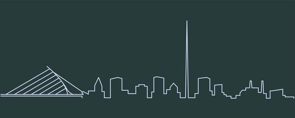 Dublin Single Line Skyline