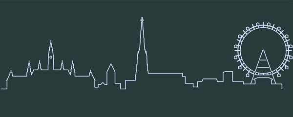 Vienna Single Line Skyline