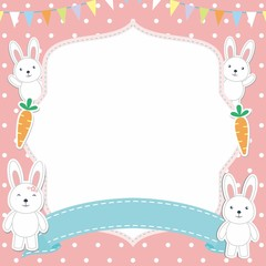 Cute Bunny Frame Vector
