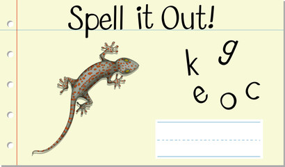 Spell English word gecko