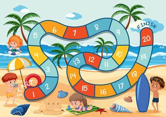 Board game summer themem