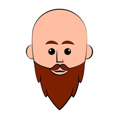Isolated hipster avatar with a hat. Vector illustration design