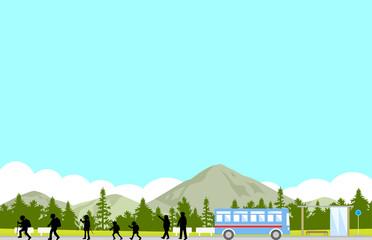 ハイキング バス停