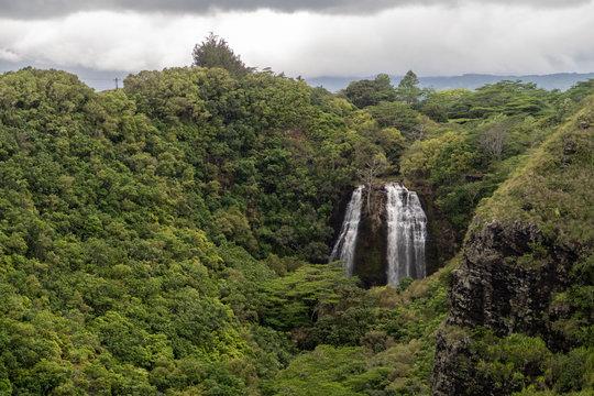 wailua waterfall in kauai hawaii