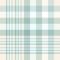 Pastel plaid pattern in faded green and cream.