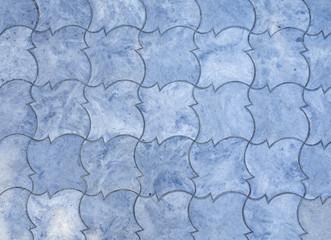 Blue decorative street tile background.