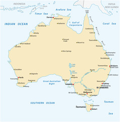 a simple vector outline map of australia