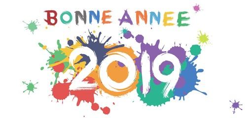 Bonne Année 2019 splash peinture
