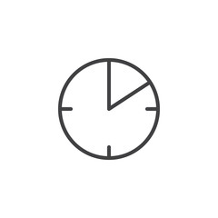 10 minute time outline icon. linear style sign for mobile concept and web design. Timer clock simple line vector icon. Symbol, logo illustration. Pixel perfect vector graphics
