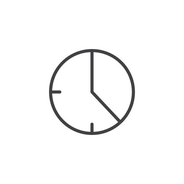 20 minute time outline icon. linear style sign for mobile concept and web design. Timer clock simple line vector icon. Symbol, logo illustration. Pixel perfect vector graphics