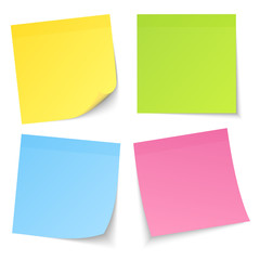 4 Stick Notes Colour Mix