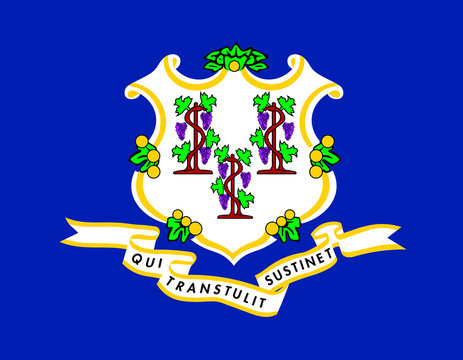 Connecticut vector flag. Vector illustration. United States of America.