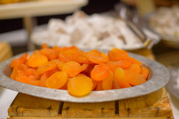 dried fruits on the buffet