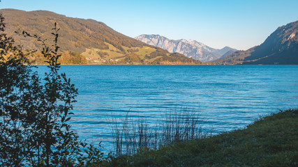 Beautiful alpine view at the famous Mondsee-Salzburg-Austria