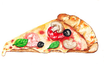 PizzaWatercolor