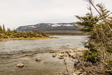 Western Brooke River from the banks, Grose Morne National Park, Newfoundland, Canada