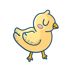 Charming yellow graphic duckling