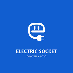 Abstract Logo of Electric Socket