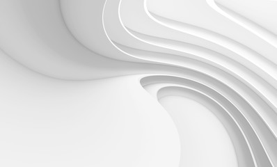 Fotobehang - Abstract Architecture Background. White Circular Building