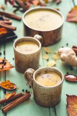Turmeric Golden Milk or Turmeric Moon Milk ou Lait d'Or au Curcuma