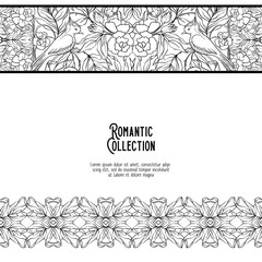 Template for invitation, greeting card banner, gift voucher