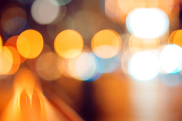 City lights out of focus, abstract background of glare Fotomurales